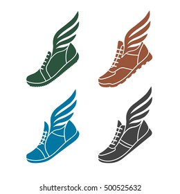 winged shoe images stock photos vectors shutterstock rh shutterstock com shoe with wings logo answer is called shoe with wings logo answer is called