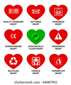 Icons standard hearts.