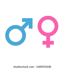 Icons and symbols for Male and female