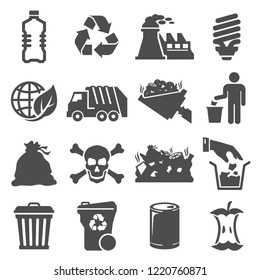 Icons Vector Related Garbage