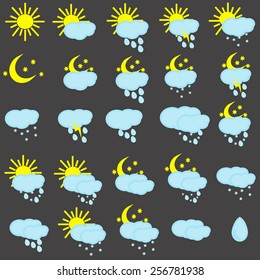 Icons for weather forecast
