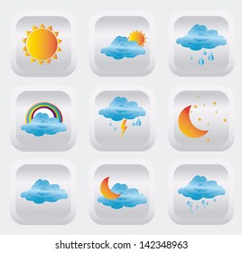 icons weather over white background vector illustration