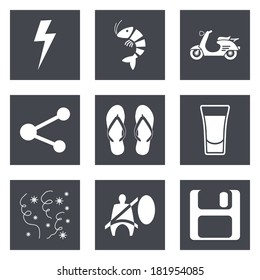 Icons For Web Design And Mobile Applications Set 27 Vector Illustration