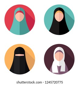 Icons/avatars for muslim women