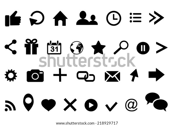 Iconsclock Arrow Present Calendar Email Twitter Stock Vector