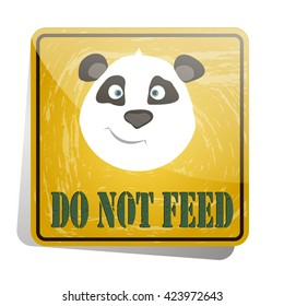 icon-sign pandas do not feed