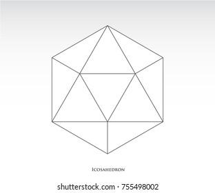 Icosahedron Sacred geometry vector illustration