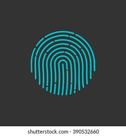 id app icon fingerprint vector illustration sign flat human symbol