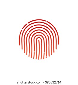 ID app icon. Fingerprint vector illustration.  Sign Flat. fingerprint icon app. Human fingerprint. Fingerprint ID symbol.