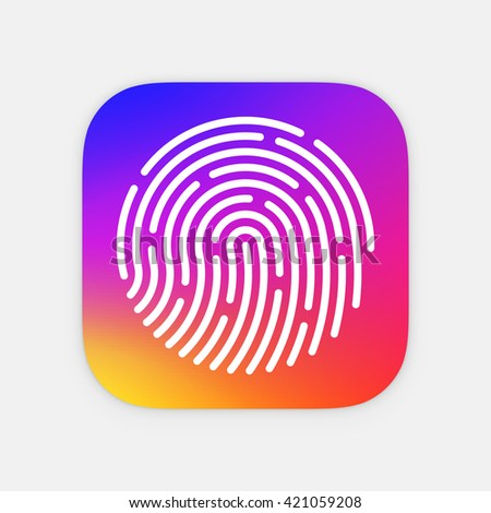 id app icon template fingerprint vector stock vector royalty free