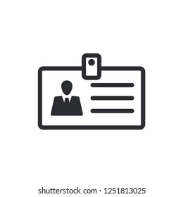ID Card Business Man Icon Vector Template