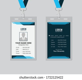 Id card design template ,clean and smooth ,eps 10.