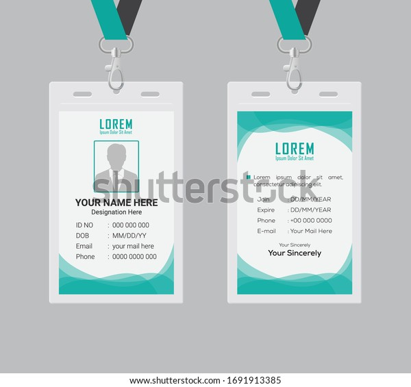 Id card design template. clean and smooth. eps 10