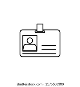 Id card icon. Element of global logistics icon for mobile concept and web apps. Thin line Id card icon can be used for web and mobile
