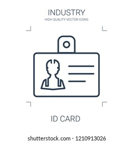 id card icon. high quality line id card icon on white background. from industry collection flat trendy vector id card symbol. use for web and mobile