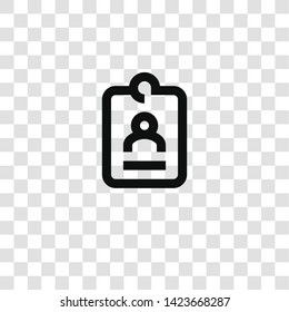 id card icon from miscellaneous collection for mobile concept and web apps icon. Transparent outline, thin line id card icon for website design and mobile, app development