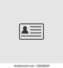 id card icon vector, can be used for web and mobile design