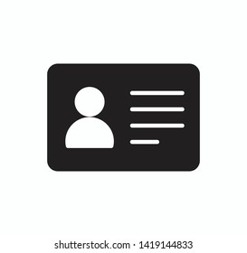 Id card icon vector flat style trendy