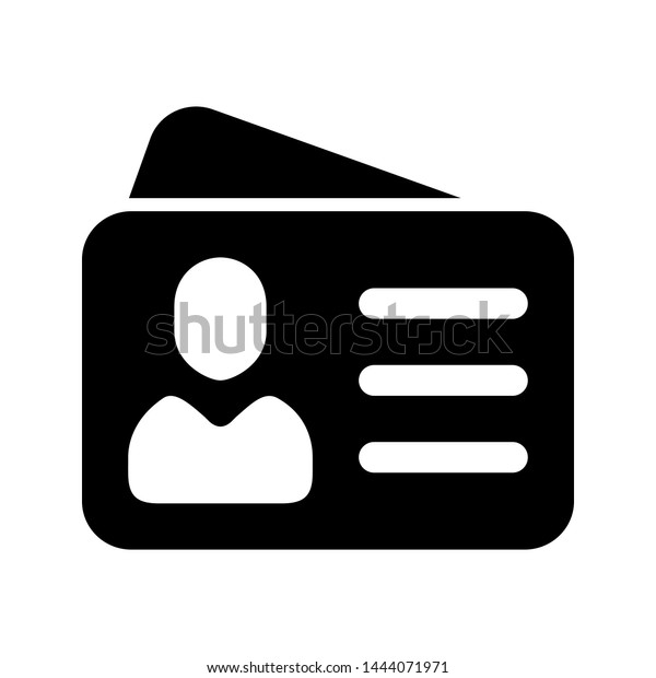 id card icon vector identity tag stock vector royalty free 1444071971 https www shutterstock com image vector id card icon vector identity tag 1444071971
