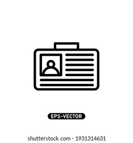 Id card icon vector illustration logo template for many purpose. Isolated on white background.