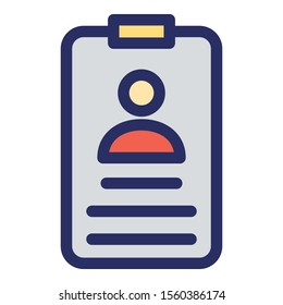ID Card  Isolated Vector Icon which can easily modify or edit