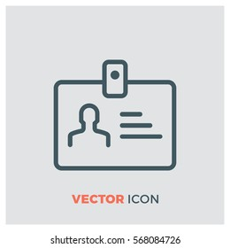 id card line vector icon
