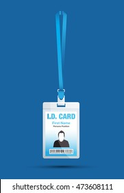 id card man blue