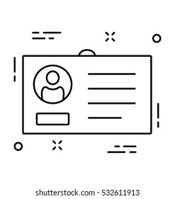 ID Card Vector Icon