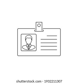 ID card vector line icon, identification card icon, personal identification card symbol