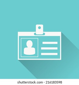 id cards icon , vector illustration , flat design