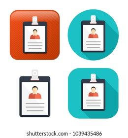 id cards icon - vector name tag - identity badge symbol