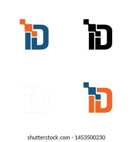 ID digital logo letter or DI digital