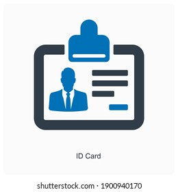 ID or identity card icon concept