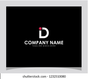 ID initial icon logo design template vector eps 10