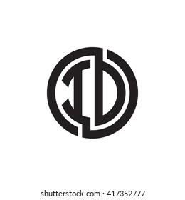 ID initial letters looping linked circle monogram logo