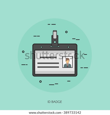 id name tag badge template icon stock vector royalty free