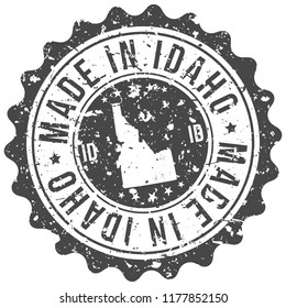 Idaho Made In Map Travel Stamp Icon City Design Tourism Export Seal