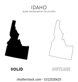 Idaho map. Blank vector map of the Us State. Borders of Idaho for your infographic. Vector illustration.