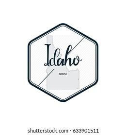 Idaho map United States of America