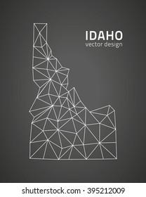 Idaho outline vector map