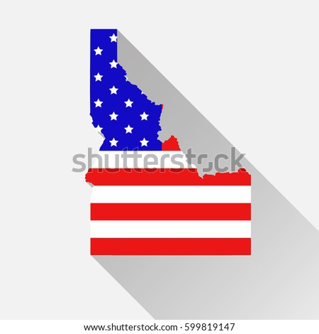 Idaho State Map Style USA National Stock Vector (Royalty Free ...
