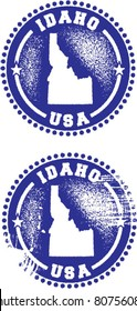 Idaho State USA Distressed Stamps