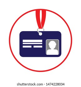 id-card icon. flat illustration of id-card vector icon. id-card sign symbol