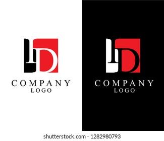 id/di initial company logo template vector