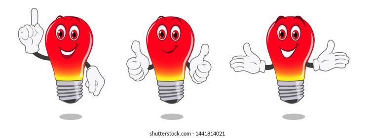 Idea bulb symbol. Cartoon light bulb. Vector illustration.