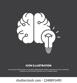 idea, business, brain, mind, bulb Icon. glyph vector symbol for UI and UX, website or mobile application