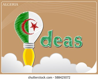 Idea concept  made from the flag of Algeria, conceptual vector illustration