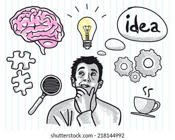 Idea Concept themed Vector Set