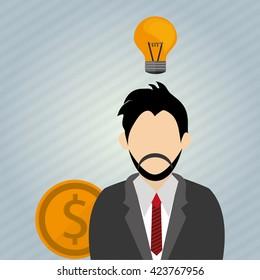 Idea design business concept. Colorful illustration