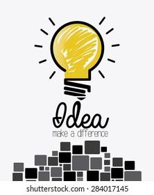Idea design over white background, vector illustration.